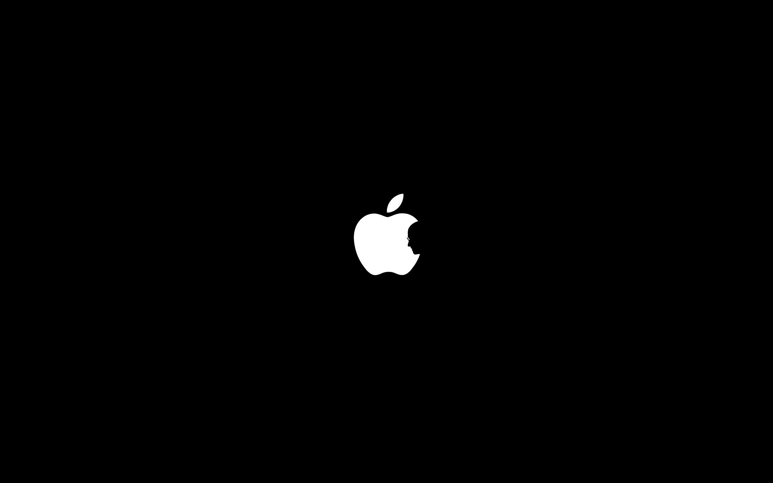 Профиль Стива Джобса в яблоке