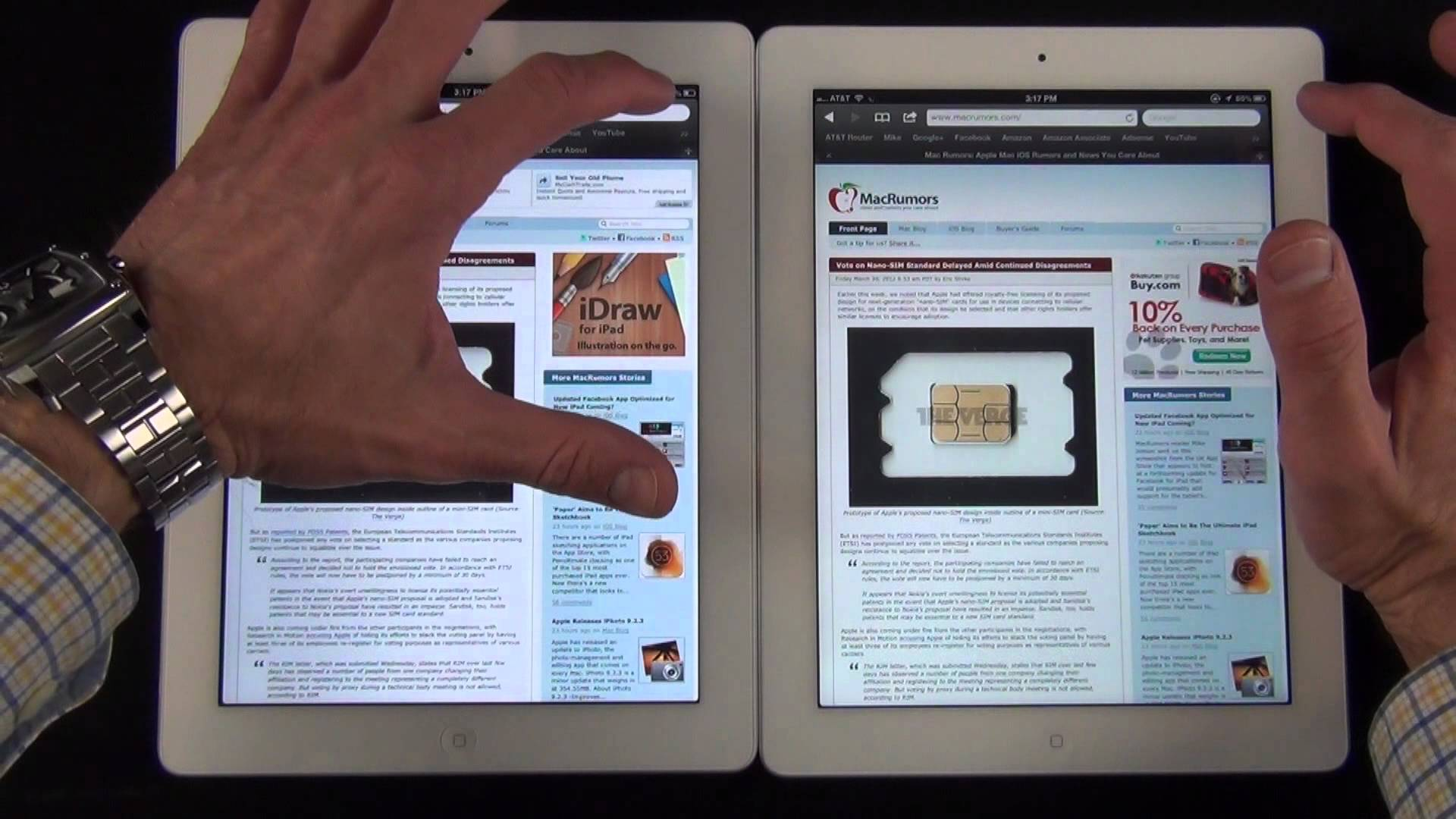 iPad 3 и iPad 2