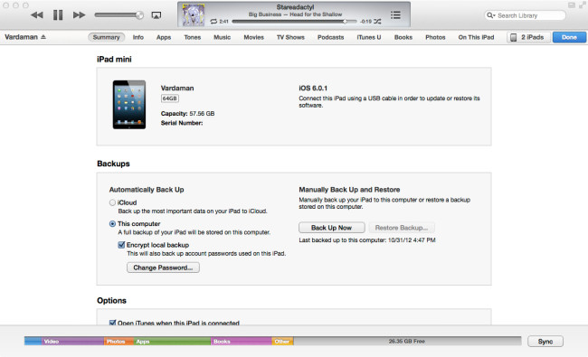 iTunes для iPad