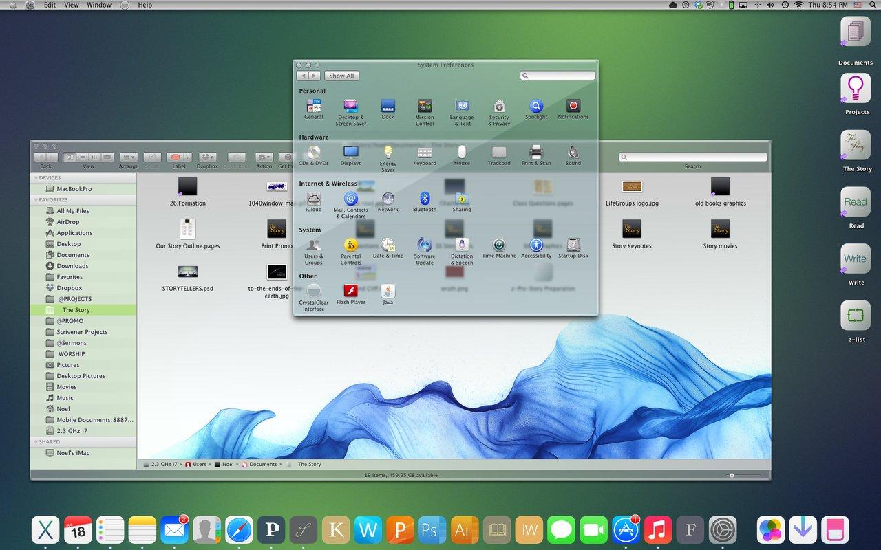 OS X и iTV в стиле iOS 7