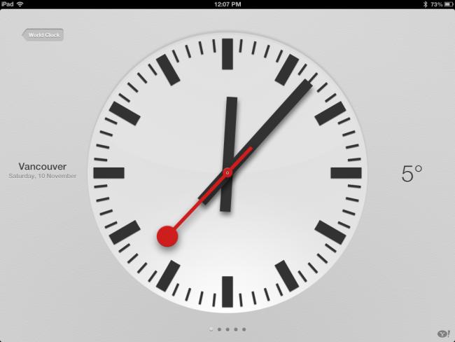 Swiss clock