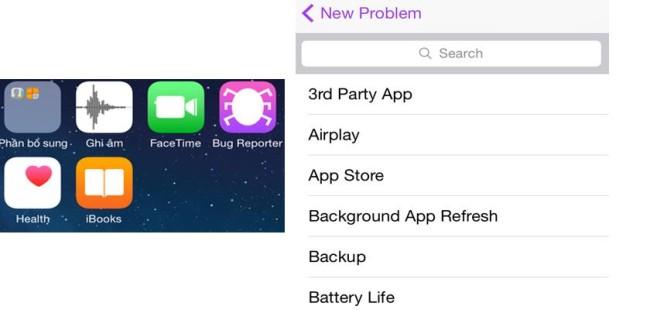Bug reporter в iOS8