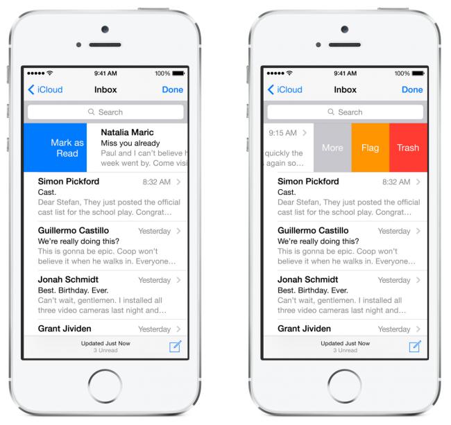 Почта в iOS 8