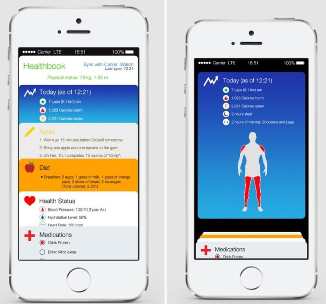 Healthbook в iOS 8