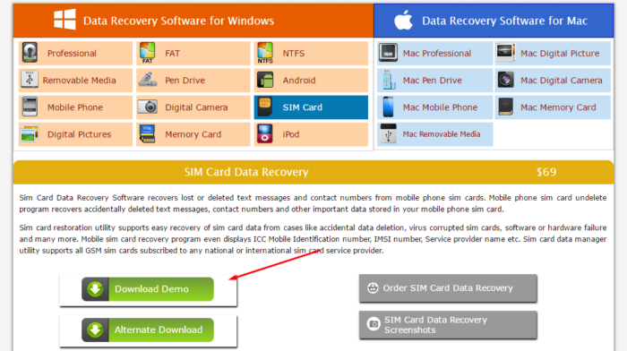 Data Doctor Recovery — SIM Card