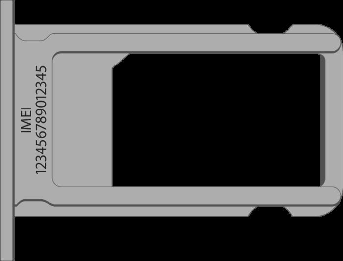 IMEI на поддоне для SIM на iPhone