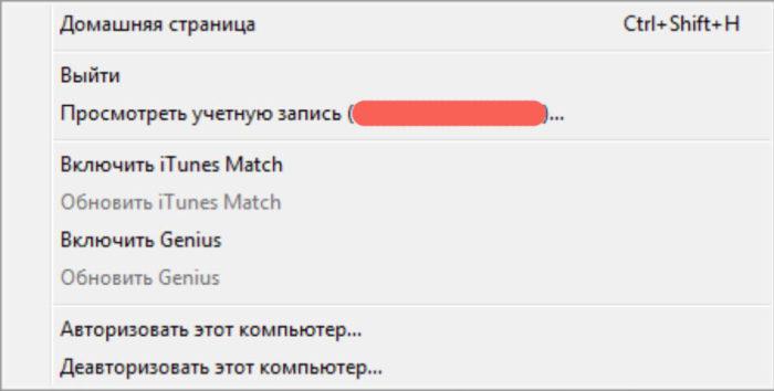 iTunes сразу отобразит ваш AppleID