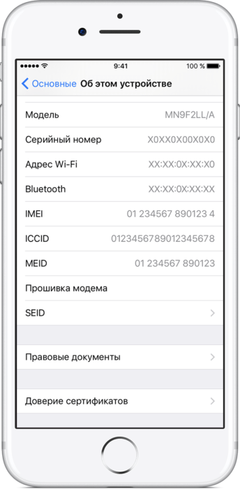 Техническая информация об iPhone