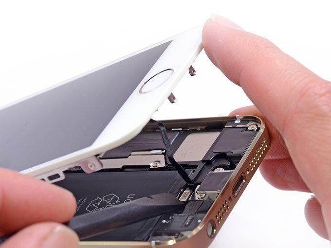 Отключение шлейфа кнопки Home в iPhone 5s