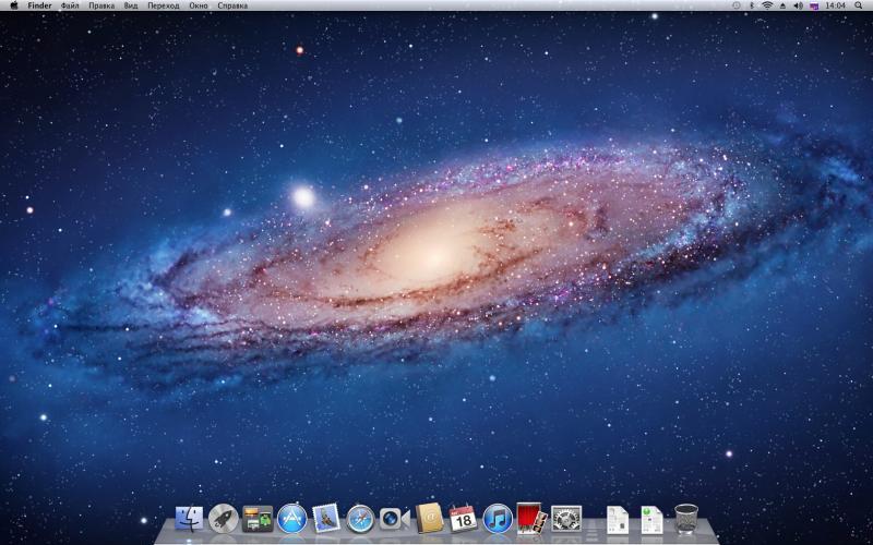 Рабочий стол Mac OS