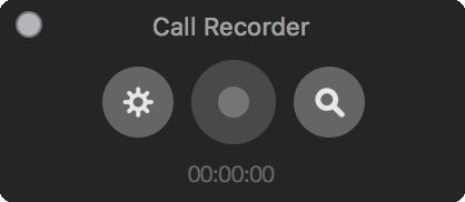 Окно CallRecorder — запуск записи звонка