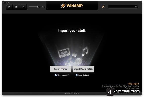 Winamp для Mac - уже доступен