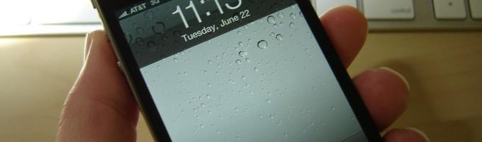 время на iPhone