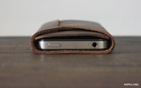 Необычный кожаный чехол Umber для iPhone 5 и 4/4S