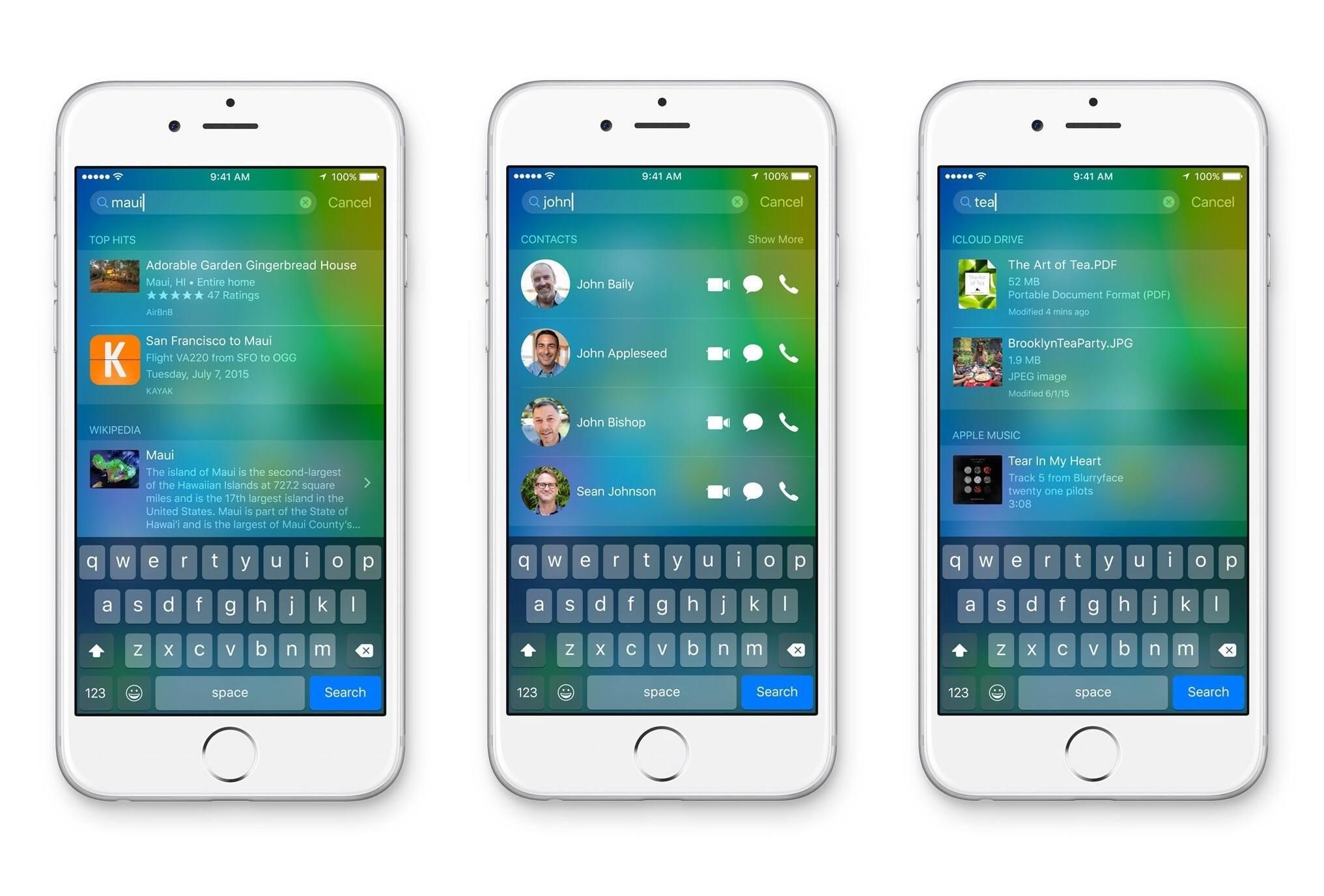 Spotlight в iOS