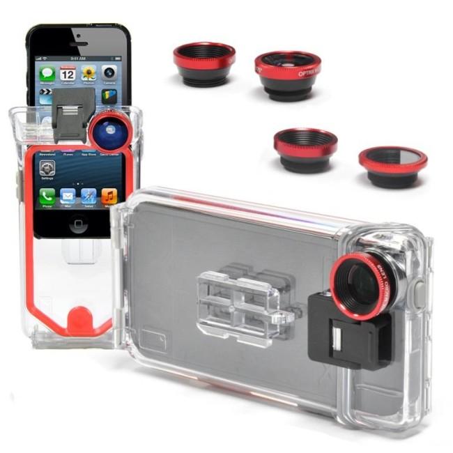 Подводный кейс для iPhone5 с возможностью фото- и видеосъемки