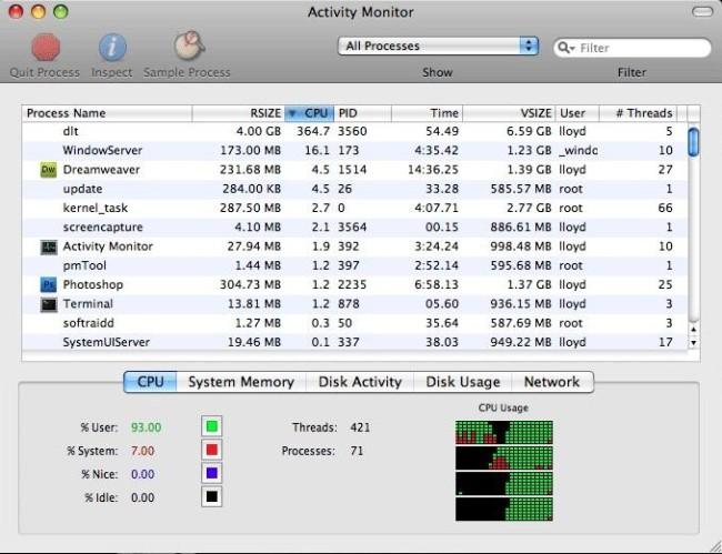 Мониторинг энергопотребления аккумулятора Mac