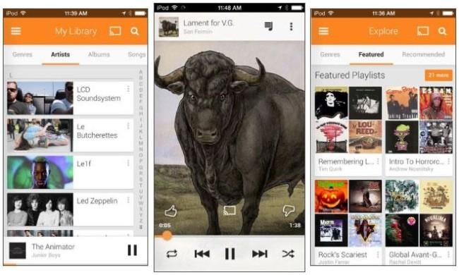 Приложение Play Google Music стало доступным для пользователей iOS
