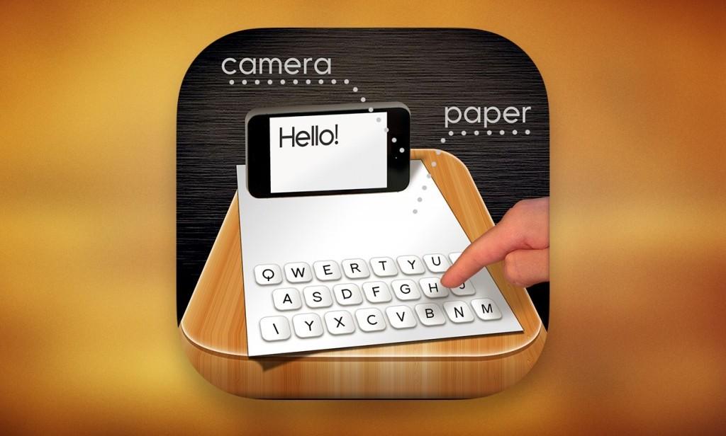 Бумажная клавиатура для iPhone