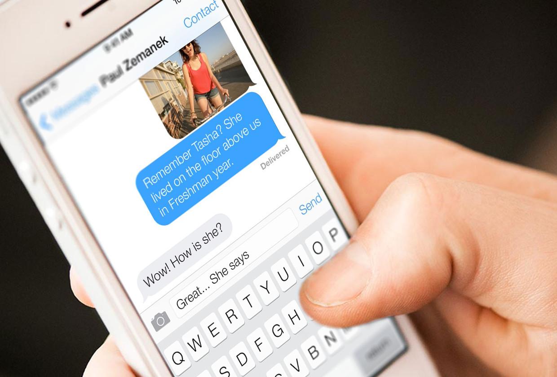 iOS сообщение