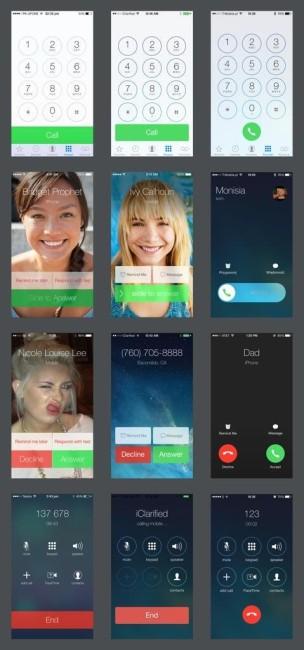 Эволюция iOS 7 в картинках