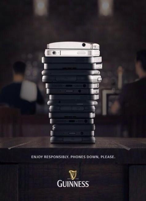 """""""Антисмартфонная"""" реклама от Guinness"""