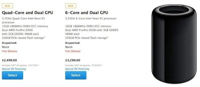 Срок доставки новых Mac Pro перенесен на март