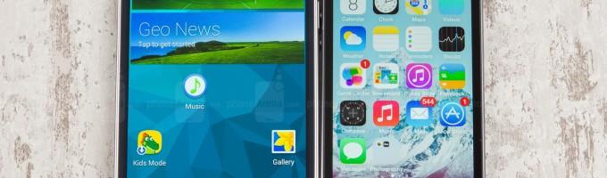 iPhone 5s против Samsung Galaxy S5