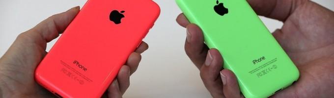 Красный и зеленый iPhone 5C