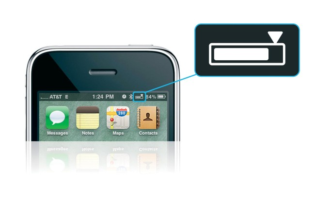 значок батареи на дисплеи телефона
