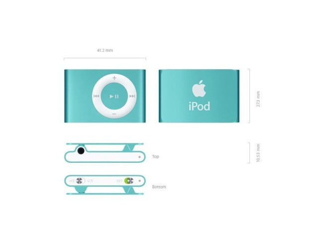 размеры iPod shuffle 1GB