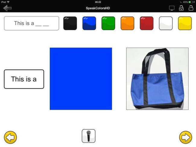 SpeakColors для ipad