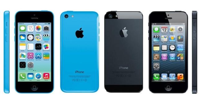 Сравнение двух устройств. Фронтальная панель iPhone 5c
