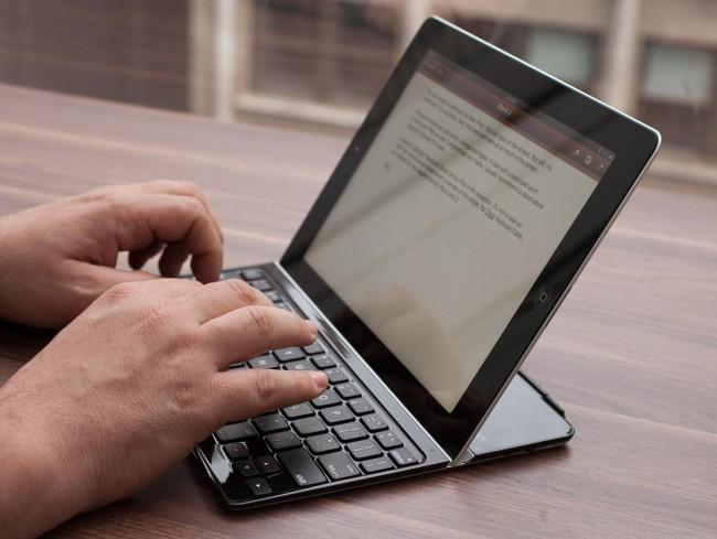 работа на iPad с клавиатурой