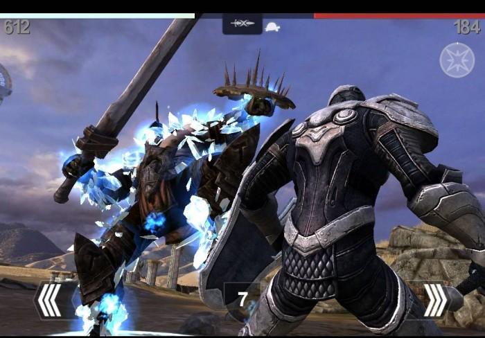 Скрин интерфейса игры Infinity Blade II