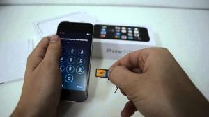 Как вставить симку в iPhone 4?