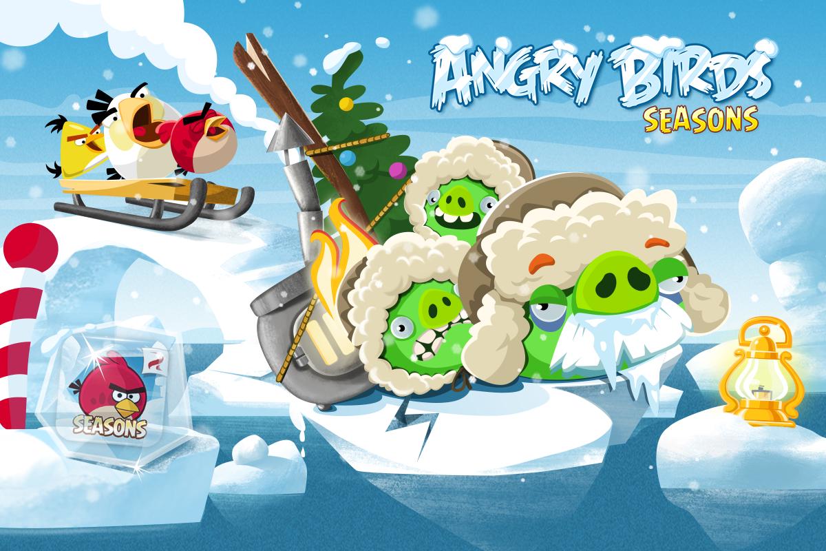 Обновление Angry Birds Seasons в январе