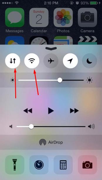 Панель быстрого доступа IPhone