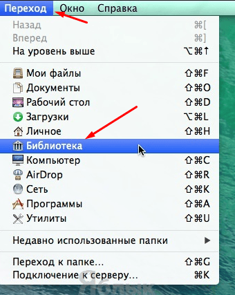 Меню Macbook