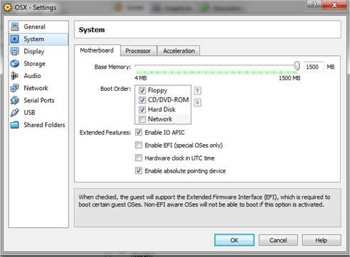 Enable EFI (special OSes only)