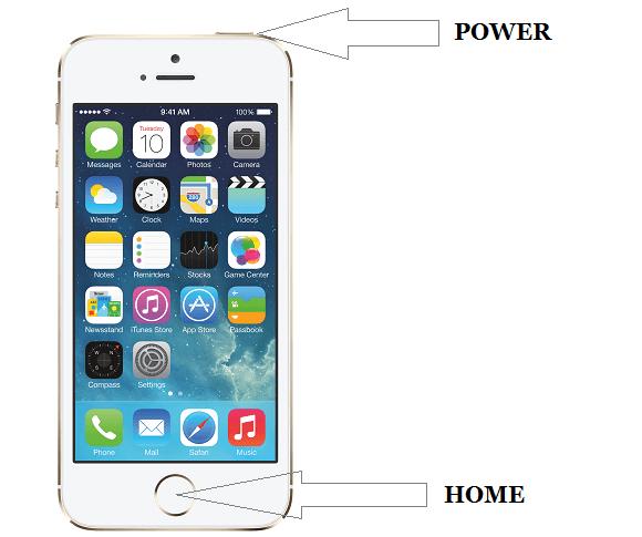 Кнопка включения и отключения IPhone
