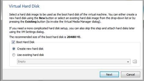 Создать виртуальный жесткий диск