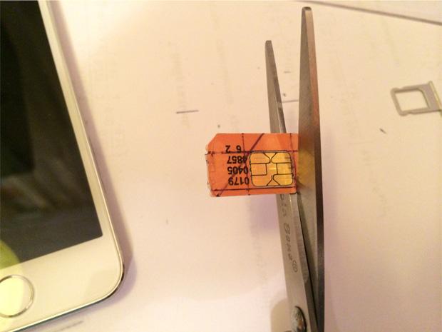 Обрезка SIM-карты