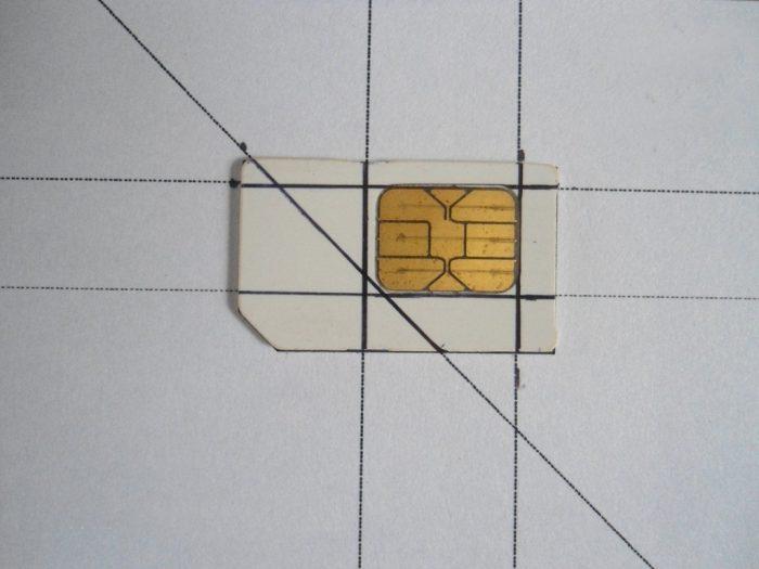Разметка будущей SIM-карты