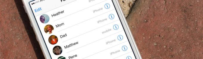 iPhone контакты