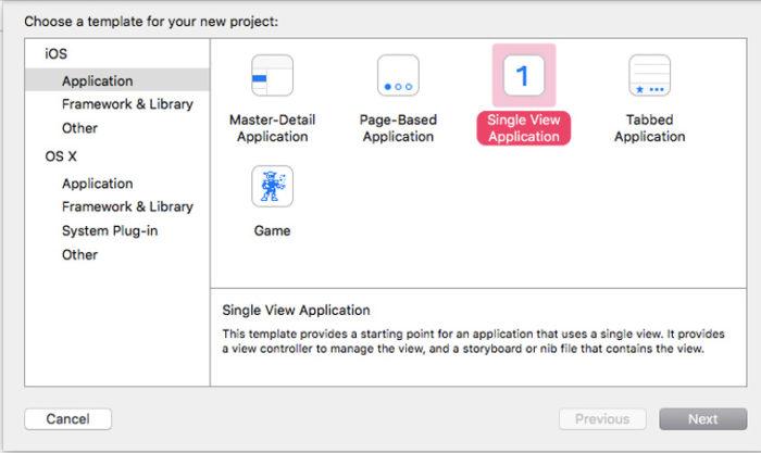 Определение платформы программы в Xcode